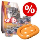 Smilla Kitten упаковка стартовых кормов + кровать для кошек