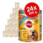 Sparpaket: 24 x 800 g Pedigree Adult Classic + Plus