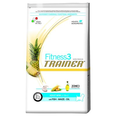 Trainer Fitness 3 Adult Mini No Gluten Salmone & Mais