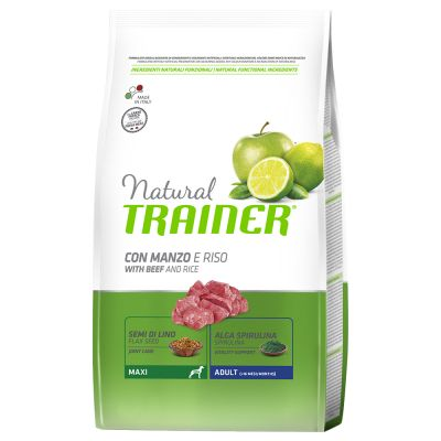 Trainer Natural Maxi Adult Manzo & Riso