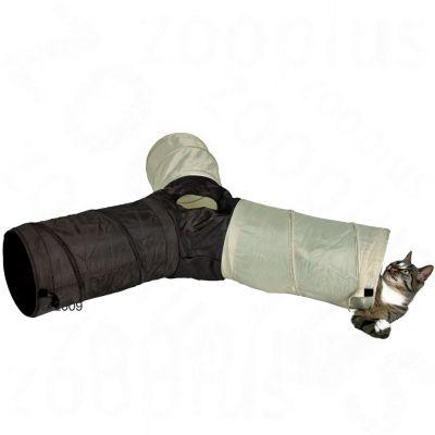 tunnel de jeu trois tubes pour chat ou chiot zooplus. Black Bedroom Furniture Sets. Home Design Ideas