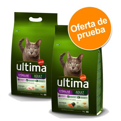 Ultima Adult para gatos esterilizados - Pack mixto