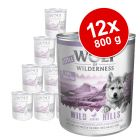 Výhodné balení Little Wolf of Wilderness Junior 12 x 800 g