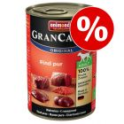 6 x 400 g Animonda GranCarno Original Adult w super cenie!