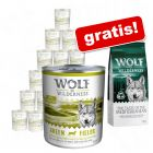 24 x 800 g umido Wolf of Wilderness + 1 kg secco gratis!