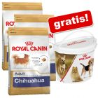 3 x 1,5 kg Royal Canin Breed + Voerbox gratis!
